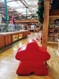 Großer roter Stern bei Savage Mills Lizenzfreies Stockfoto