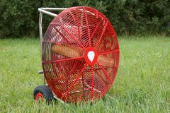 Großer roter Ventilator Lizenzfreies Stockfoto