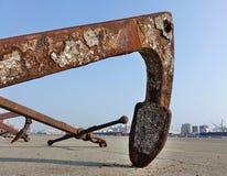 Großer Rusty Buoy Anchor lizenzfreie stockfotografie