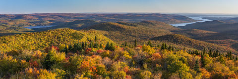 Großer Sacandaga See von Hadley Mountain Lizenzfreies Stockfoto