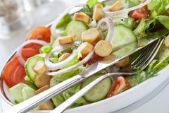 Großer Salat-Teller Stockfotos