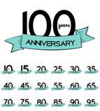 Großer Sammlungs-Satz der Schablone Logo Anniversary Vector Illustrat Lizenzfreies Stockfoto