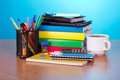 Großer Satz Büro und Schulbedarf Stockbild