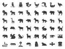 Großer Satz der Safari, der Arktis, des Waldtieres und des Vogels wie Tiger, vektor abbildung