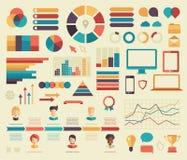 Großer Satz flaches infographics Design des Geschäfts Lizenzfreie Stockfotografie