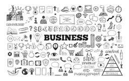 Großer Satz Geschäfts-Ikonen Stockbilder