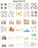 Großer Satz infographic Elemente Stockbild