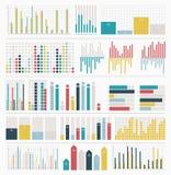 Großer Satz Infographic-Elemente stock abbildung