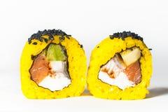 großer Satz mit Sushi und Rollen Lizenzfreie Stockbilder