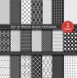 Großer Satz schwarz-weißes Pattern2 Stockbilder