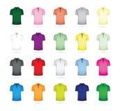 Großer Satz T-Shirts Stockfotos