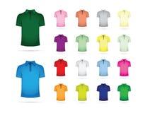 Großer Satz T-Shirts lizenzfreie abbildung