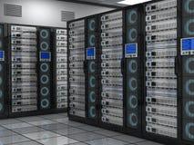 Großer Serverraum lizenzfreie abbildung