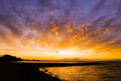 Großer Sonnenaufgang Stockbilder