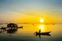 Großer Sonnenaufgang Stockfoto