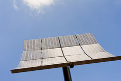 Großer Sonnenkollektor auf Pol Lizenzfreie Stockfotos