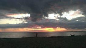 Großer Sonnenuntergang Lizenzfreie Stockbilder
