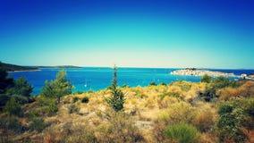 Großer sonniger Tag in Kroatien Stockfotos