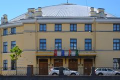 Großer Staatszirkus errichtet im 19. Jahrhundert, St Petersburg, Russland Lizenzfreies Stockfoto