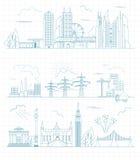 Großer Stadtplanschöpfer Entwurfsversion Hauserbauer Hous lizenzfreie abbildung
