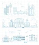 Großer Stadtplanschöpfer Entwurfsversion Hauserbauer Hous stock abbildung
