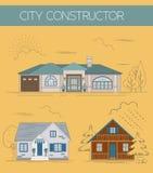 Großer Stadtplanschöpfer Farbversion lizenzfreie abbildung