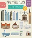 Großer Stadtplanschöpfer Hauserbauer vektor abbildung
