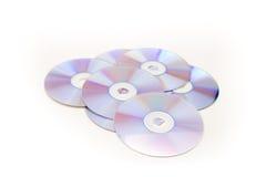 Großer Stapel der frischen CDs und des DVD Lizenzfreies Stockbild