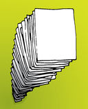 Großer Stapel Papier Stockbild