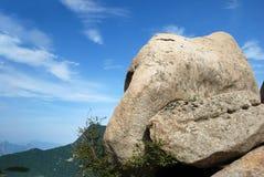 Großer Stein in huashan Lizenzfreies Stockbild