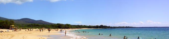 Großer Strand Stockbild