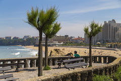 Großer Strand Biarritz lizenzfreies stockbild