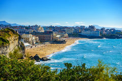 Großer Strand Biarritz in Frankreich Lizenzfreie Stockbilder