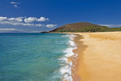 Großer Strand, Oneloa-Strand, Süd-Maui, Hawaii, USA Lizenzfreies Stockfoto