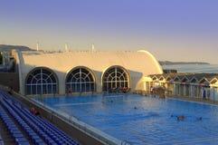 Großer Swimmingpool Stockbild