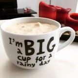 Großer Tasse Kaffee stockbild