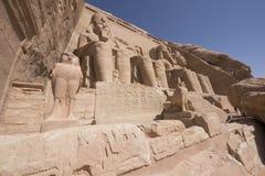 Großer Tempel Façade von Ramses II, Abu Simbel, Ägypten Lizenzfreies Stockbild