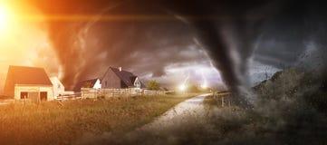 Großer Tornadounfall Lizenzfreies Stockfoto