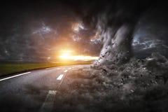 Großer Tornadounfall Stockbild