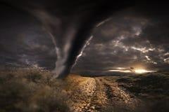 Großer Tornadounfall Lizenzfreies Stockbild