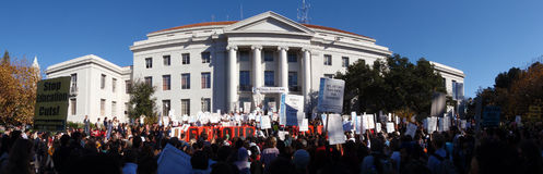 Großer Uc- Berkeleyprotest Stockfoto