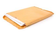 Großer Umschlag und Dokument stockfotografie