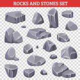 Großer und kleiner Gray Rocks And Stones Stockfoto