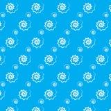 Großer und kleiner Musterblauhintergrund der weißen Zickzackspirale Stockfoto