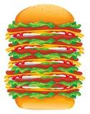 Großer Vektor des Hamburgers Stockbilder