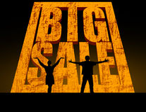 Großer Verkauf Stockfoto