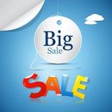 Großer Verkauf auf blauem Himmel Stockbilder