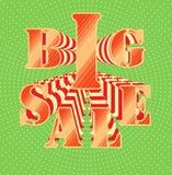 Großer Verkauf auf klarem Hintergrund Stockfoto