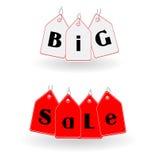 Großer Verkauf beschriftet Vektor Lizenzfreies Stockfoto