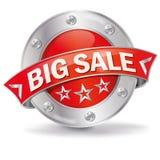 Großer Verkauf des Knopfes lizenzfreie abbildung